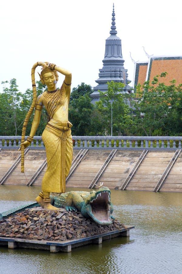 Oudong,柬埔寨前面的首都 库存图片