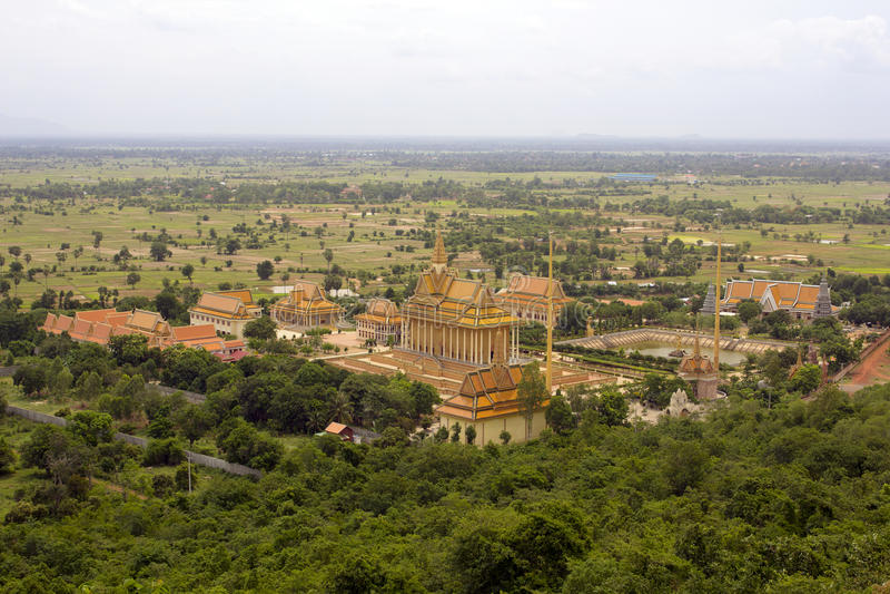 Oudong,柬埔寨老首都 免版税库存照片
