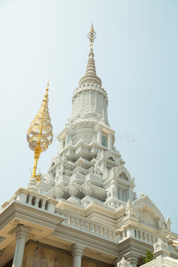 Oudong, stupa that contains relics of Buddha. Inside royalty free stock images