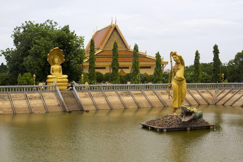 Oudong, vecchia capitale della Cambogia fotografia stock libera da diritti