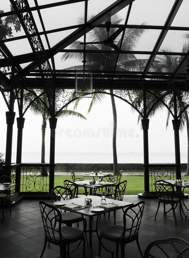 Oudoor al fresku target11_0_ teren w dziedzictwa hotelu zdjęcie royalty free