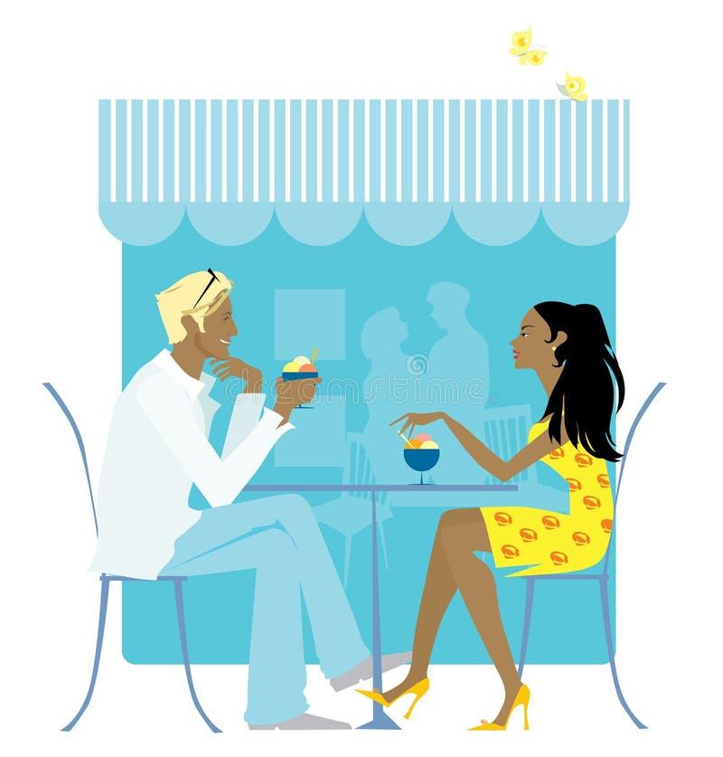 Oudoors do café ilustração do vetor