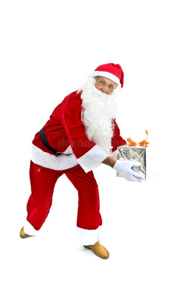 Oudste als Kerstman royalty-vrije stock afbeeldingen