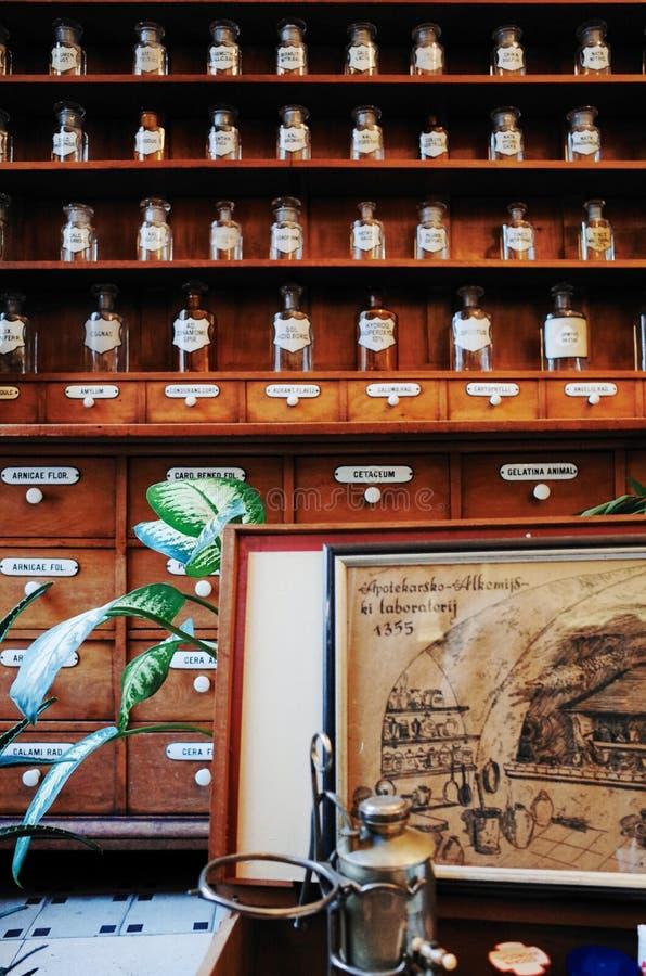 Oudste Apotheek ZAGREB stock afbeelding