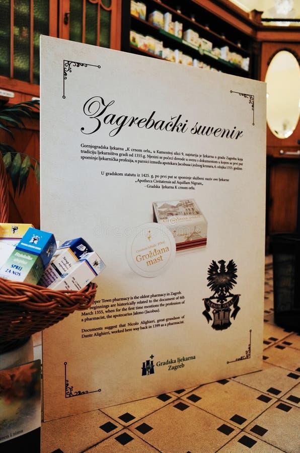 Oudste Apotheek ZAGREB stock afbeeldingen