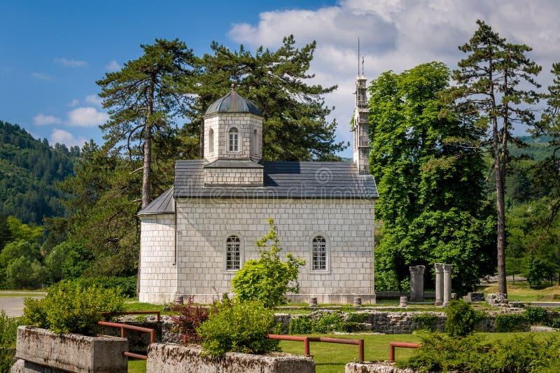 Oudste kerk van Montenegro stock foto's