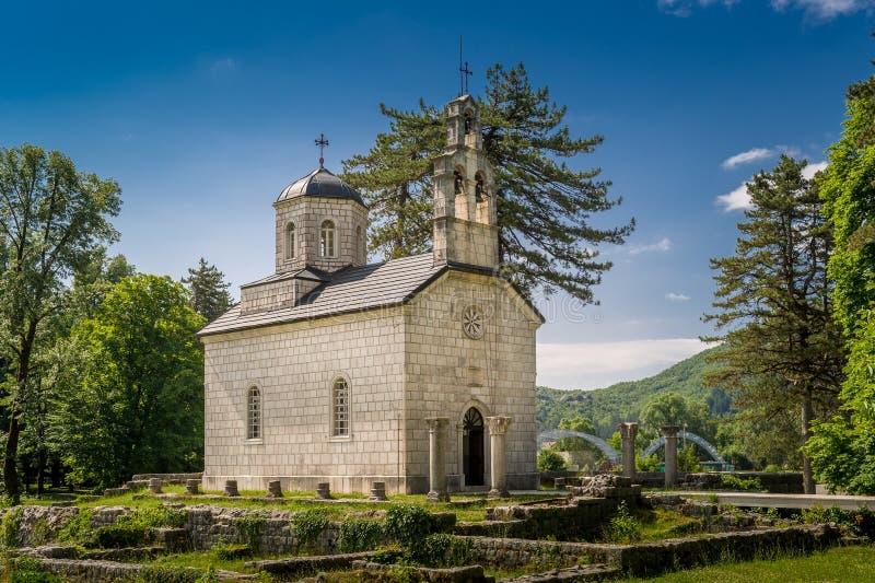 Oudste kerk van Montenegro, de Hof Kerk binnen stock fotografie