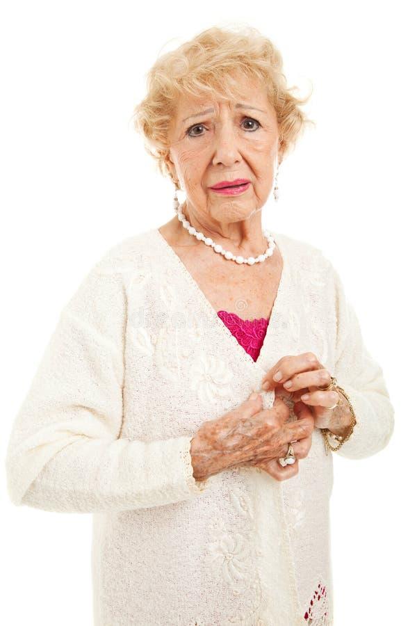 Oudste met de Pijnlijke Symptomen van de Artritis stock afbeelding