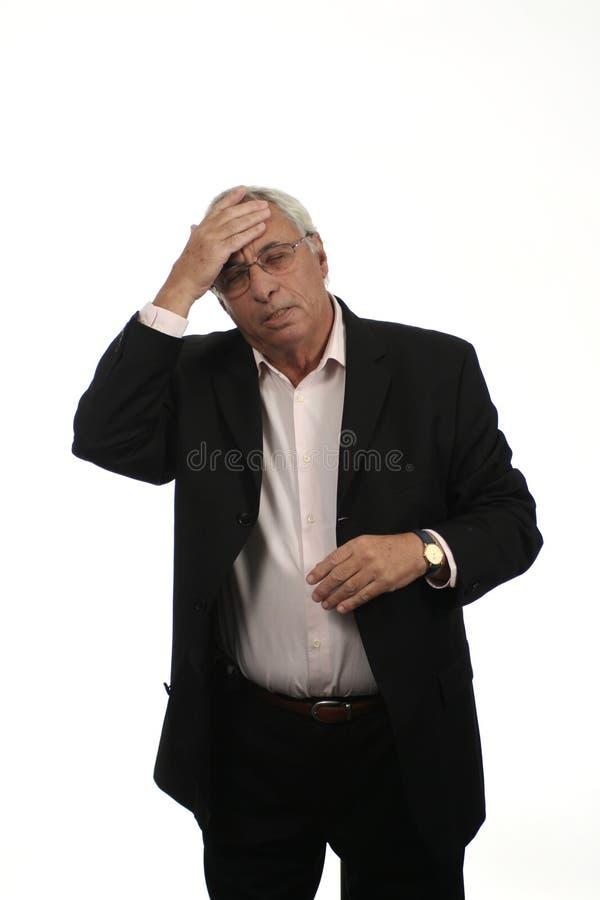 Download Oudste met Migraine stock foto. Afbeelding bestaande uit mensen - 292486