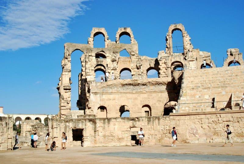 Oudste ruïnes van Tunesië royalty-vrije stock afbeelding