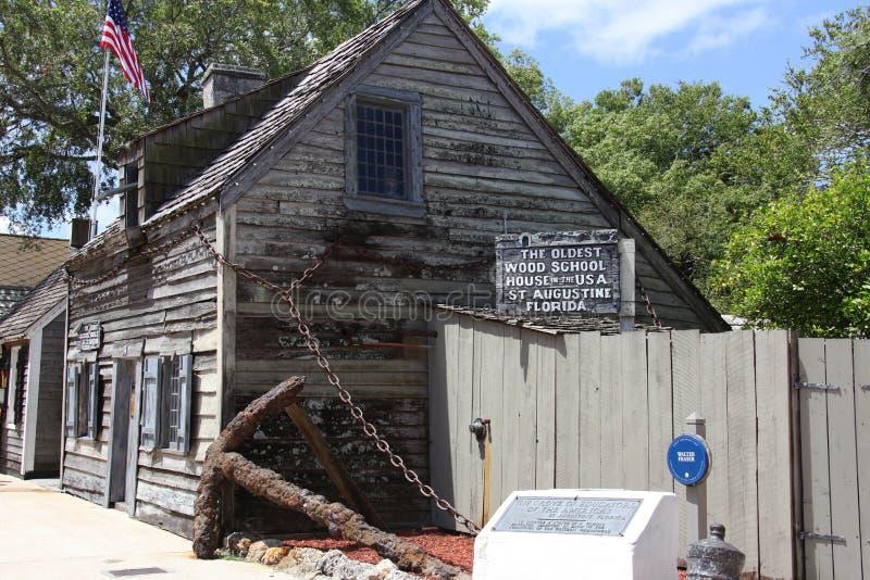 Oudste school in Amerika stock afbeelding