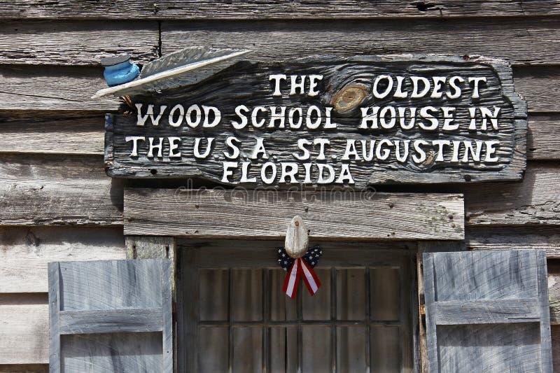Oudste school in Amerika royalty-vrije stock afbeelding