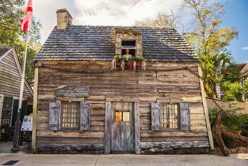 Oudste Schoolgebouw in de Verenigde Staten stock afbeelding