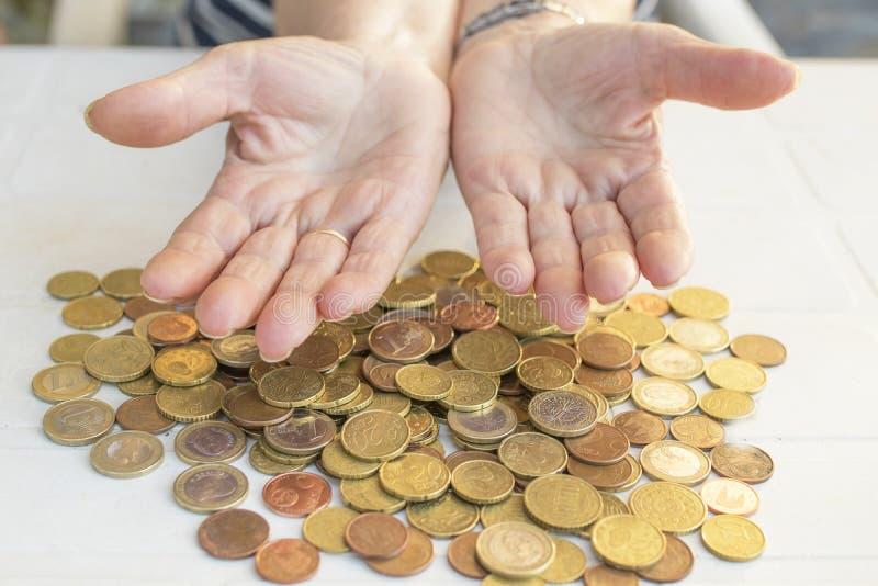 Oudsten en besparingen, pensione en financiën royalty-vrije stock foto