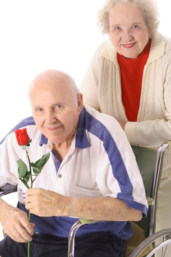 Oudsten in liefde royalty-vrije stock afbeelding