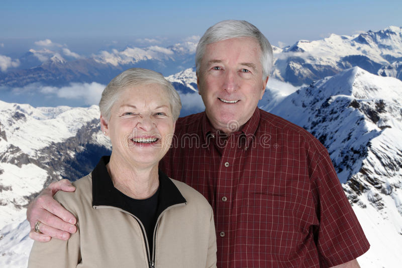 Oudsten op Vakantie royalty-vrije stock foto's