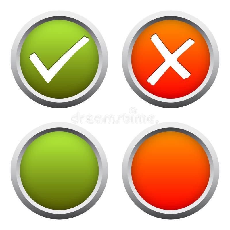OUI + AUCUN boutons illustration stock
