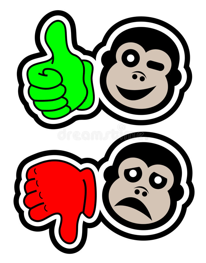 Oui aucun singe illustration stock