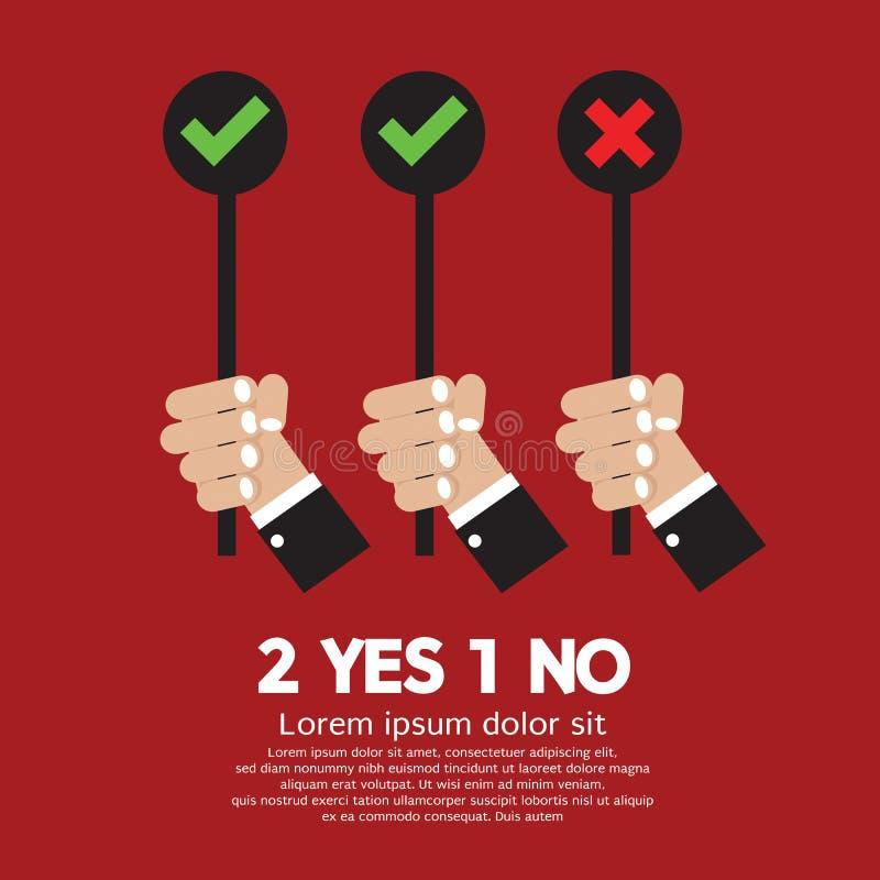 Oui et non illustration libre de droits