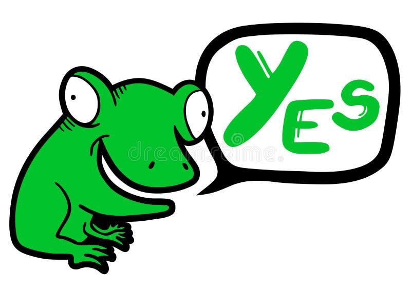 Oui grenouille illustration de vecteur