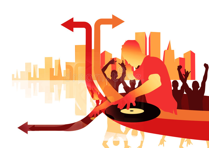 Oui le DJ illustration de vecteur
