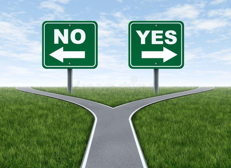 Oui ou non décision illustration libre de droits