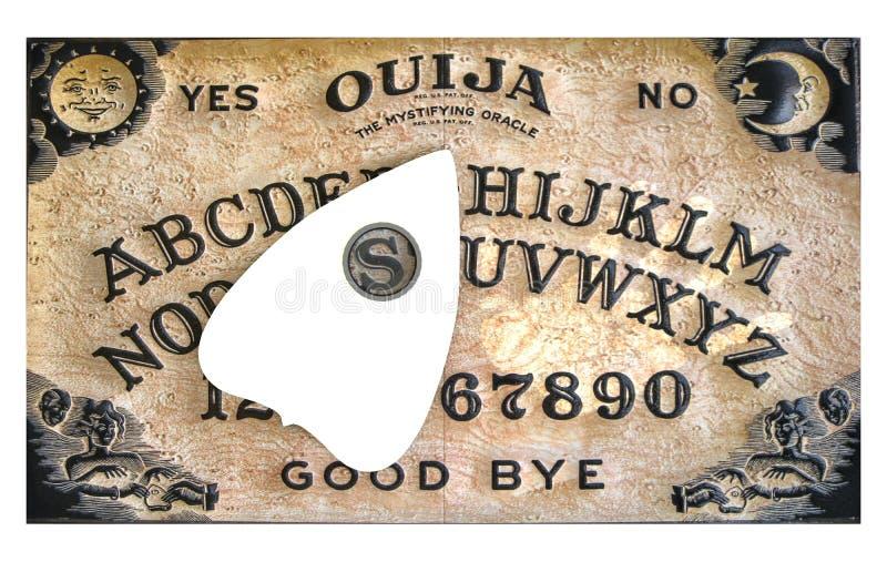 Ouija-Brett lokalisiert auf Weiß lizenzfreie abbildung