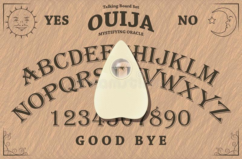 Ouija Deska royalty ilustracja