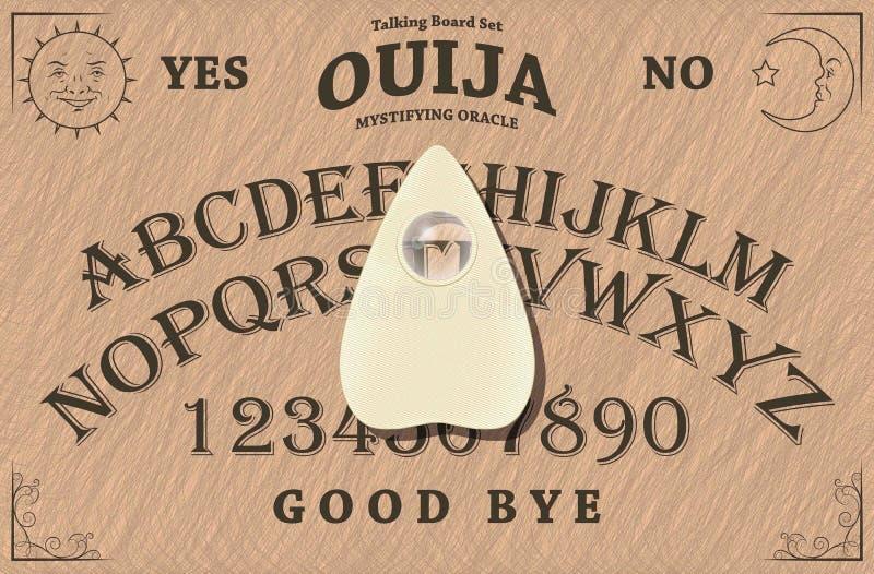 Ouija Vorstand lizenzfreie abbildung