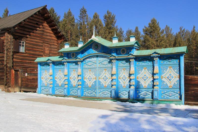 Oulan-Oude, Bouriatie, Russie, le 5 mars 2019 Musée ethnographique des peuples vivant derrière Baikal photos stock