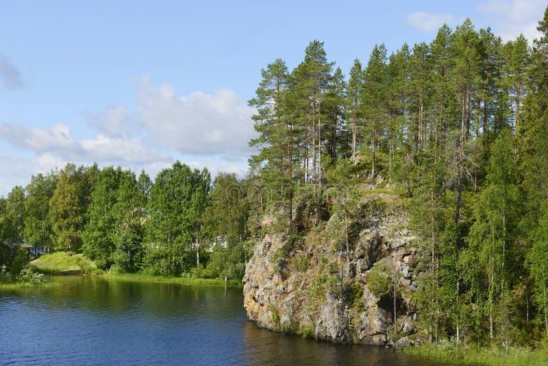Oulankajoki rzeka Park Narodowy Oulanka fotografia royalty free