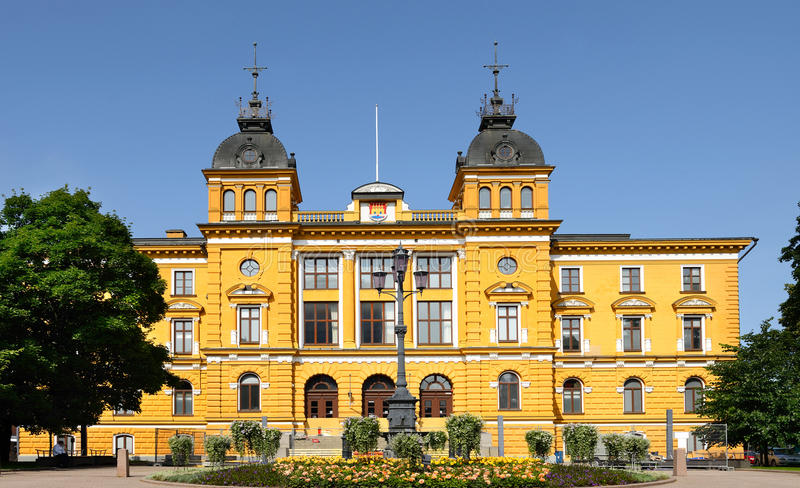 Oulu City Hall (1885). Summer. Finland stock image