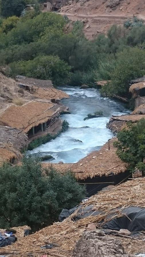 Oum-Er-Rbia fiume, Marocco fotografia stock libera da diritti