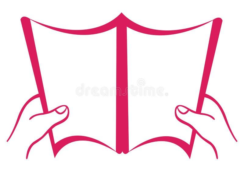 öppen blank bok vektor illustrationer
