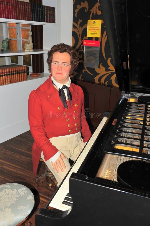österrikisk kompositörfranz peter schubert arkivbild