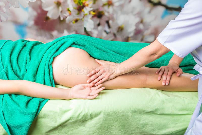 Manual anti-cellulite massage. Y royalty free stock photography