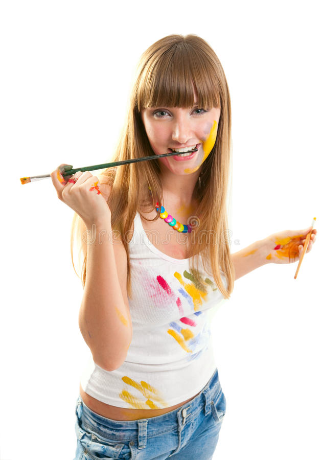 Free Уoung Woman The Artist. Royalty Free Stock Images - 14940079