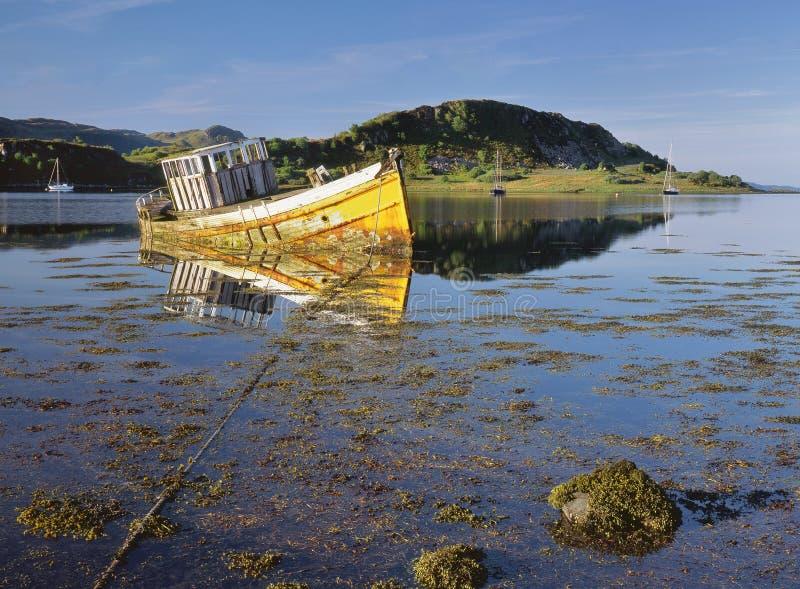 Our Atalanta, loch Craignish, Scotland royalty free stock photos