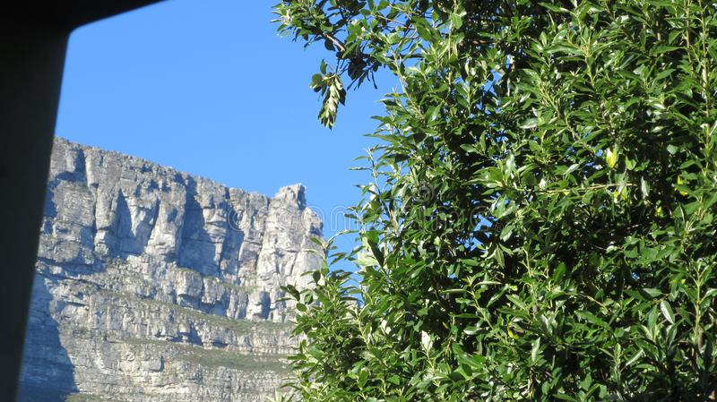 Docking Station. From our back yard a delightful view of the docking stain on Table Mountain SouthAfrica stock image