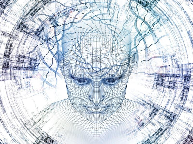 Our Digital Mind stock illustration. Illustration of math - 95357112