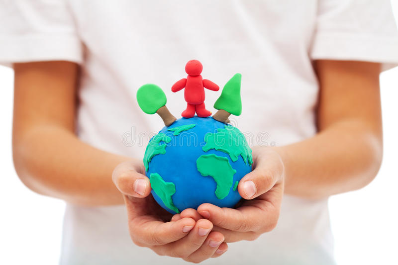 Our environment and us concept royalty free stock photography