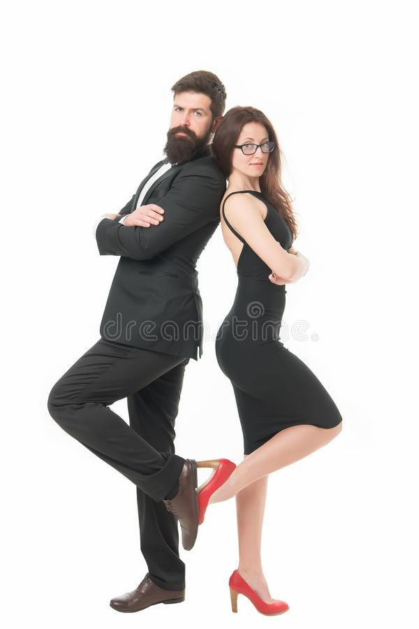 This is our evening. Romantic date. Couples bucket list. Romantic couple wear formal clothes. Man and woman elegant. This is our evening. Romantic date. Couples royalty free stock photography