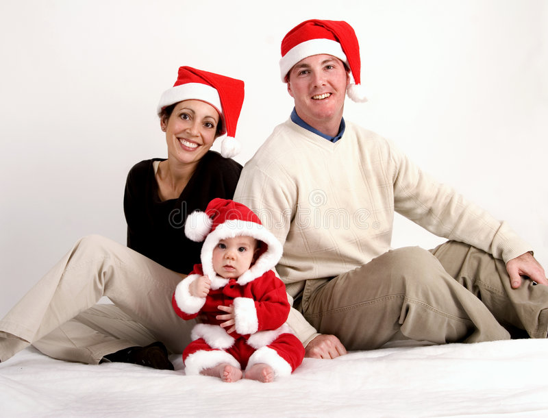 Download Our first Christmas stock image. Image of holiday, mother - 1555817