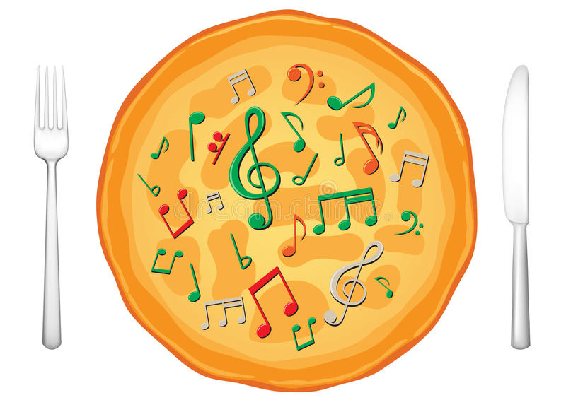 Our food are music3 stock illustration