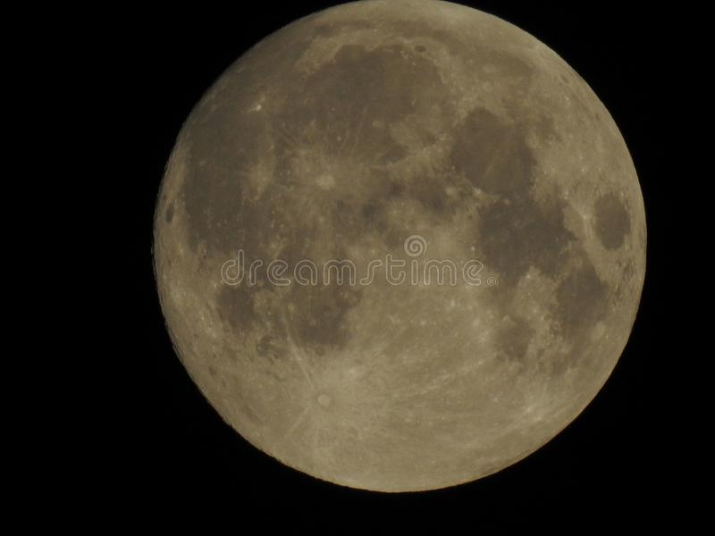 Our full Moon,beutifull mind. A full image of our Moon that makes our nights very special royalty free stock photos