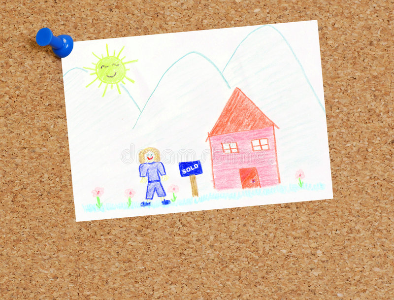 Download Our house is sold stock illustration. Image of financial - 4155059