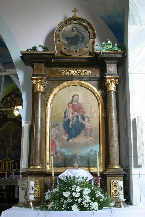 Free Our Lady Altar In The All Saints Church In The Bedenica, Croatia Royalty Free Stock Photos - 190133768