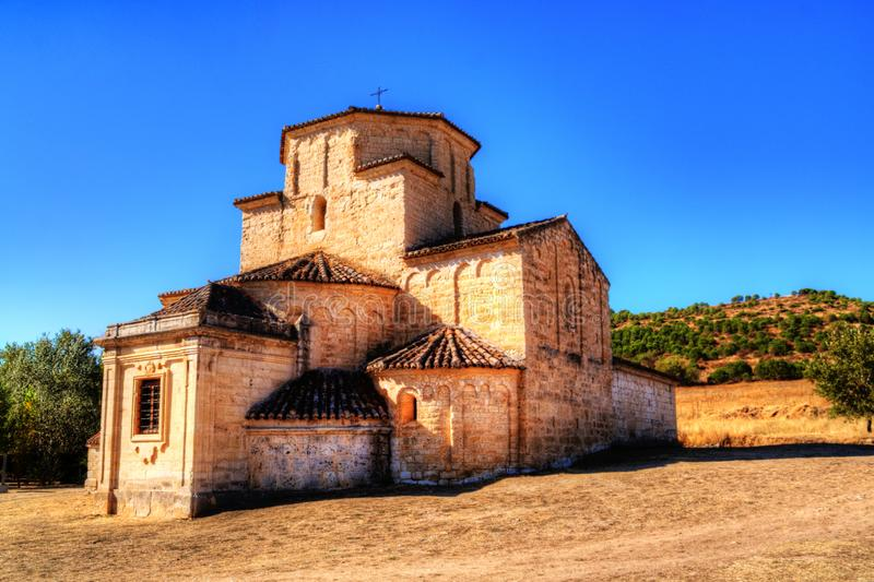Our Lady of the Annunciation, romanic church near Urueña, Spain royalty free stock images