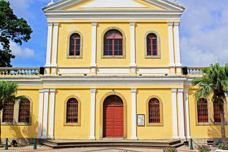 Our Lady of Carmel Church, Macau, China stock image