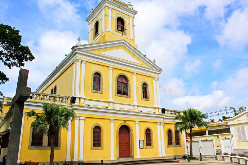 Our Lady of Carmel Church, Macau, China royalty free stock photography